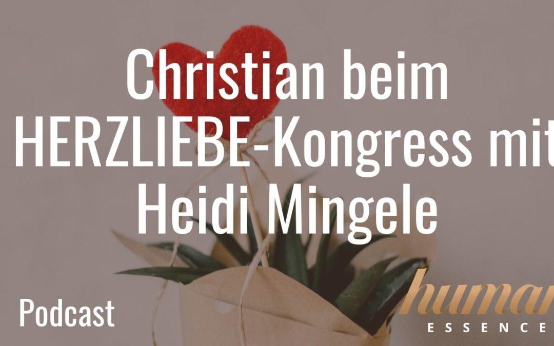 Christian beim HERZLIEBE-Kongress mit Heidi Mingele