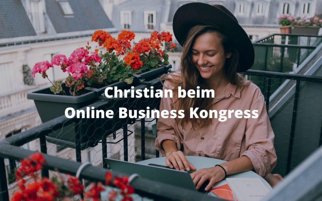 Christian beim Online Business Kongress