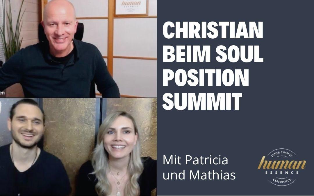 Christian beim Soul Position Summit mit Patricia und Mathias
