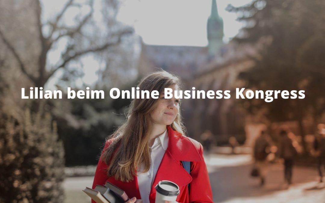 Lilian beim Online Business Kongress