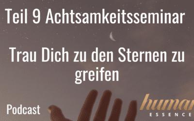 Teil 9 Achtsamkeitsseminar – Trau Dich zu den Sternen zu greifen